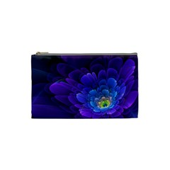 Purple Flower Fractal  Cosmetic Bag (small)