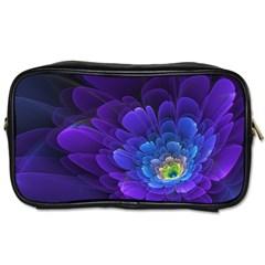 Purple Flower Fractal  Toiletries Bags