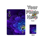 Purple Flower Fractal  Playing Cards 54 (Mini)  Front - Spade4