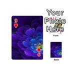 Purple Flower Fractal  Playing Cards 54 (Mini)  Front - Heart9