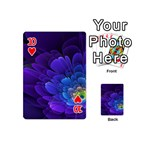 Purple Flower Fractal  Playing Cards 54 (Mini)  Front - Heart10