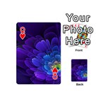 Purple Flower Fractal  Playing Cards 54 (Mini)  Front - HeartQ