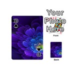 Purple Flower Fractal  Playing Cards 54 (Mini)  Front - Spade10