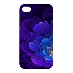 Purple Flower Fractal  Apple Iphone 4/4s Hardshell Case