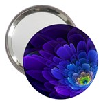 Purple Flower Fractal  3  Handbag Mirrors Front
