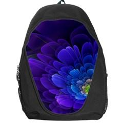 Purple Flower Fractal  Backpack Bag