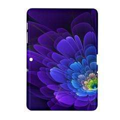 Purple Flower Fractal  Samsung Galaxy Tab 2 (10 1 ) P5100 Hardshell Case