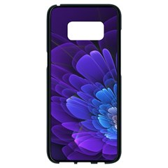 Purple Flower Fractal  Samsung Galaxy S8 Black Seamless Case