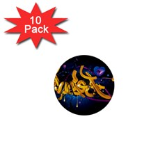 Sign Paint Bright  1  Mini Buttons (10 Pack)