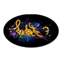 Sign Paint Bright  Oval Magnet