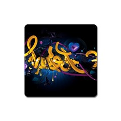Sign Paint Bright  Square Magnet