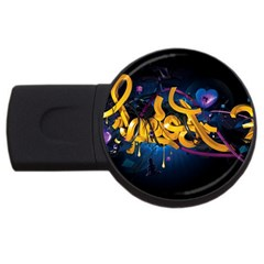 Sign Paint Bright  Usb Flash Drive Round (4 Gb)