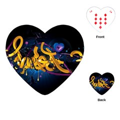 Sign Paint Bright  Playing Cards (heart)