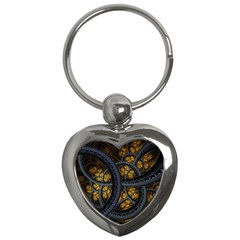 Circles Background Spots  Key Chains (heart)