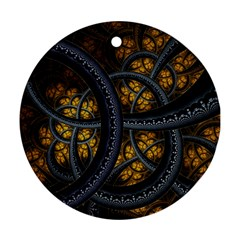 Circles Background Spots  Round Ornament (two Sides)