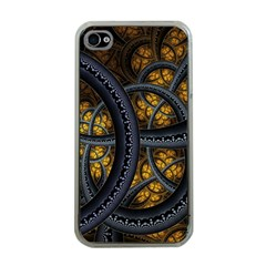 Circles Background Spots  Apple Iphone 4 Case (clear)
