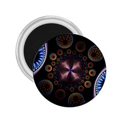 Circles Colorful Patterns  2 25  Magnets