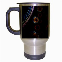 Circles Colorful Patterns  Travel Mug (silver Gray)