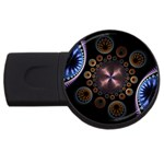 Circles Colorful Patterns  USB Flash Drive Round (4 GB) Front