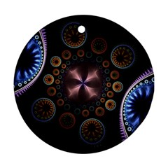 Circles Colorful Patterns  Round Ornament (two Sides)