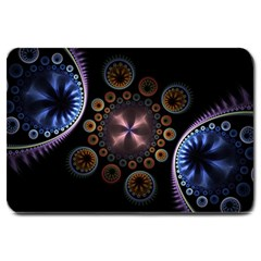 Circles Colorful Patterns  Large Doormat