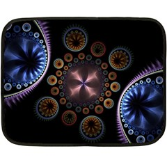 Circles Colorful Patterns  Fleece Blanket (mini)