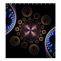 Circles Colorful Patterns  Shower Curtain 66  X 72  (large)