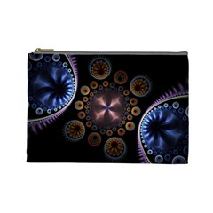 Circles Colorful Patterns  Cosmetic Bag (large)