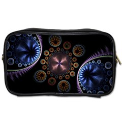 Circles Colorful Patterns  Toiletries Bags 2 Side