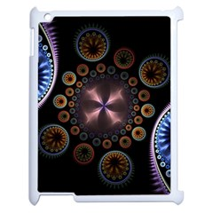 Circles Colorful Patterns  Apple Ipad 2 Case (white)