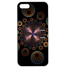 Circles Colorful Patterns  Apple Iphone 5 Hardshell Case With Stand