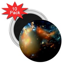 Explosion Sky Spots  2 25  Magnets (10 Pack)