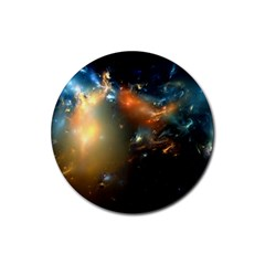 Explosion Sky Spots  Rubber Round Coaster (4 Pack)