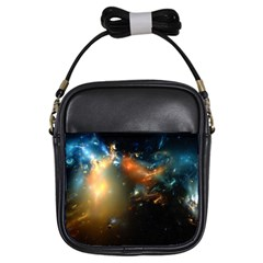 Explosion Sky Spots  Girls Sling Bags