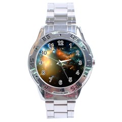 Explosion Sky Spots  Stainless Steel Analogue Watch