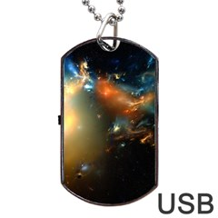 Explosion Sky Spots  Dog Tag Usb Flash (two Sides)
