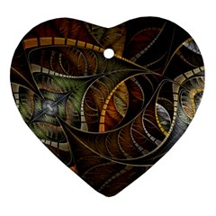 Mosaics Stained Glass Colorful  Ornament (heart)
