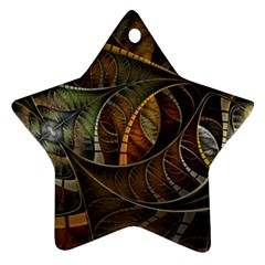 Mosaics Stained Glass Colorful  Ornament (star)