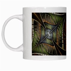 Mosaics Stained Glass Colorful  White Mugs