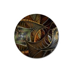 Mosaics Stained Glass Colorful  Magnet 3  (round)