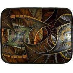 Mosaics Stained Glass Colorful  Fleece Blanket (mini)