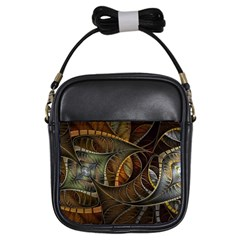 Mosaics Stained Glass Colorful  Girls Sling Bags