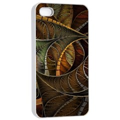 Mosaics Stained Glass Colorful  Apple Iphone 4/4s Seamless Case (white)