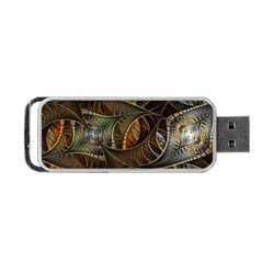 Mosaics Stained Glass Colorful  Portable Usb Flash (one Side)