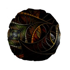 Mosaics Stained Glass Colorful  Standard 15  Premium Round Cushions