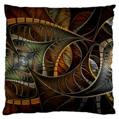 Mosaics Stained Glass Colorful  Large Flano Cushion Case (two Sides)