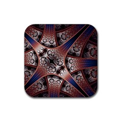 Lines Patterns Background  Rubber Coaster (square)