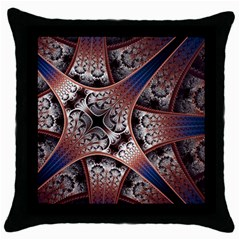 Lines Patterns Background  Throw Pillow Case (black)