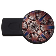Lines Patterns Background  Usb Flash Drive Round (2 Gb)