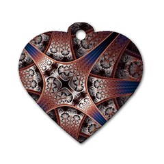 Lines Patterns Background  Dog Tag Heart (one Side)